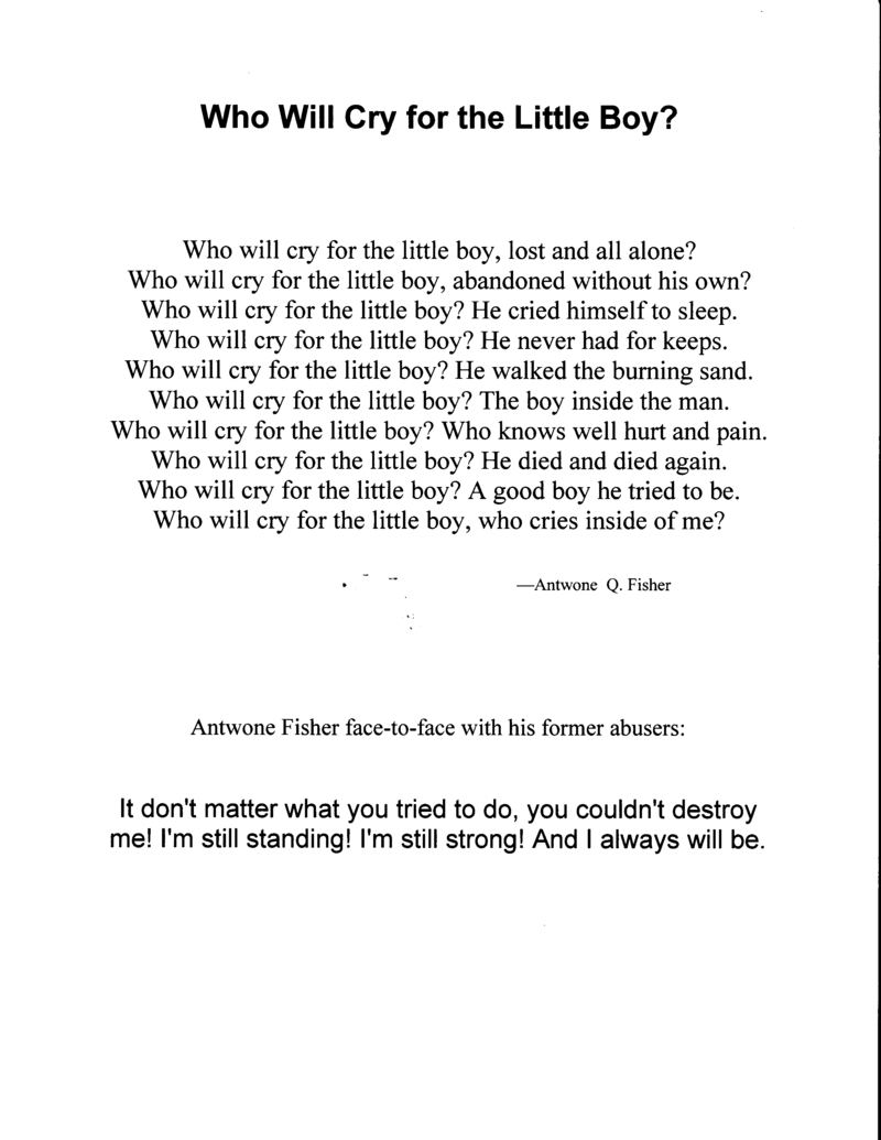 Who-will-cry1 poem